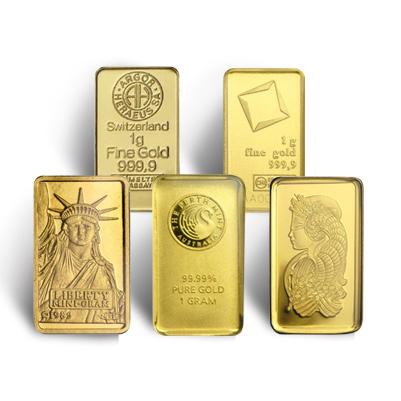 1 Gram Gold Bar Random Manufacturer Golden Eagle Coins